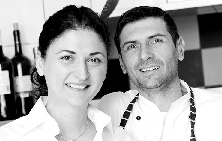 Vanja und Constantin - die Betreiber des Restaurants L'ancora in Hamburg